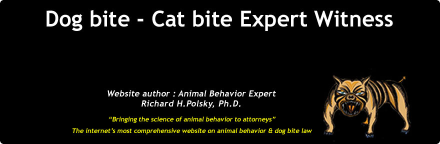 Animal behavior dog bite expert witness